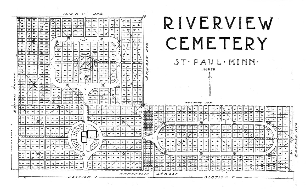 Riverview Cemetery Plat Drawing