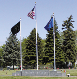 Riverview Cemetery Flags